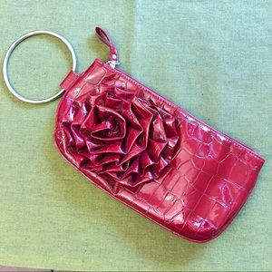 Chateau Burgundy-Red Wristlet
